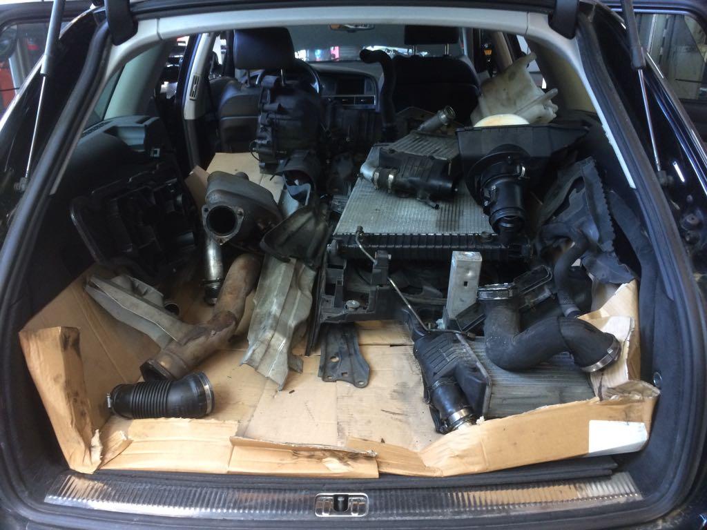 Audi A6 3.0 Quattro TDI motor plaatsen