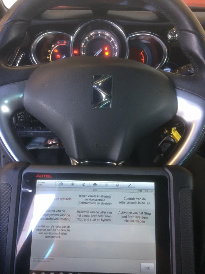 Citroën DS3 wil na diefstal en vernieling niet meer starten met originele sleutels